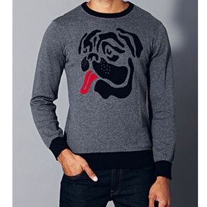 Forever 21 Men crew neck pug sweater